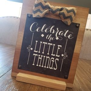 Small Wooden Sign